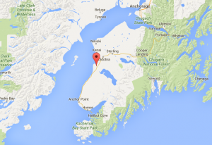 Map of Kasilof Alaska